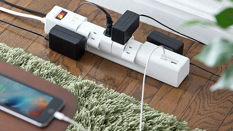 サンワダイレクト USB充電ポート付 電源タップ 700-TAP020