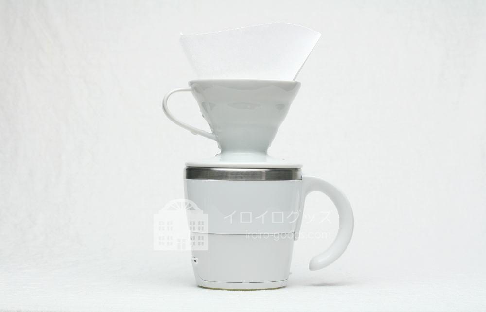 UCC 上島珈琲 ミルクカップフォーマー パンナホワイト MCF30W そのままコーヒーを淹れられるカップ